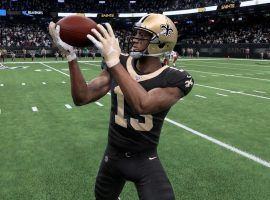 New Orleans Saints WR, Michael Thomas, in action on Madden 20. (Image: EA Sports)