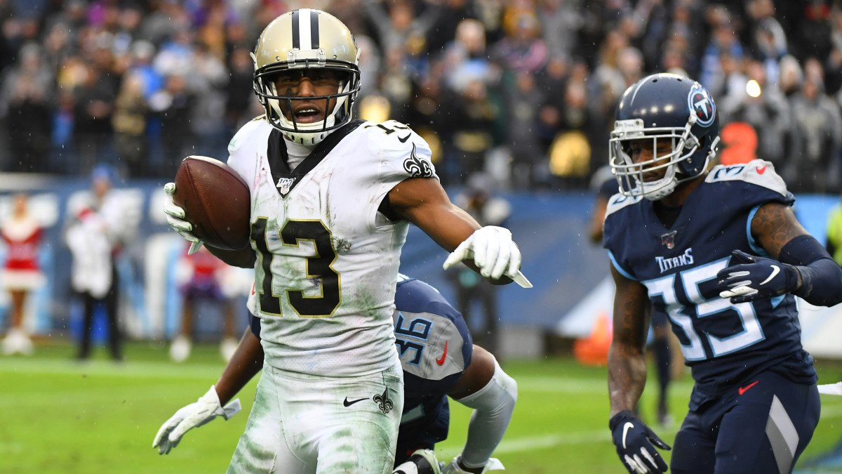 New Orleans Saints WR Michael Thomas reception record Ravens clinch #1 top seed AFC playoffs