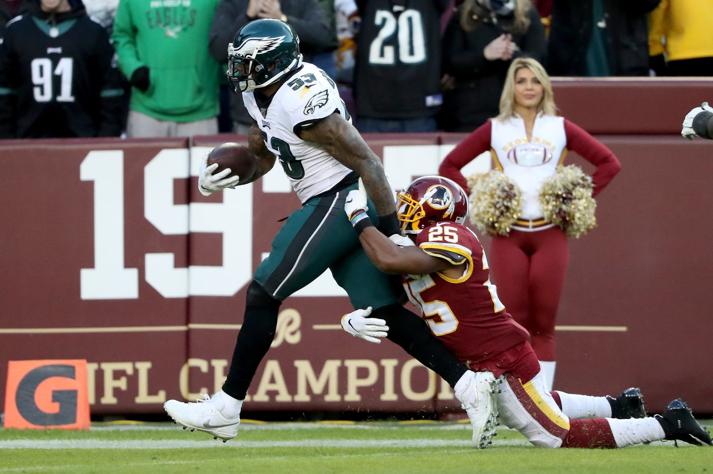 NFL bad beats Eagles Redskins