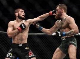 Khabib Nurmagomedov (left) and Conor McGregor (right) could be in line for a 2020 rematch if they win their respective fights early next year. (Image: Brandon Magnus/Zuffa/Getty)