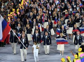 The Russian flag won't be seen at the 2020 or 2022 Olympics due to a doping ban instituted by WADA. (Image: AFP/Getty)