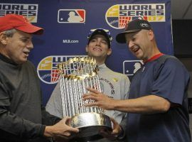Terry Francona (right) has recovered the two World Series rings he won with the Boston Red Sox after they were stolen last month. (Image: AP)