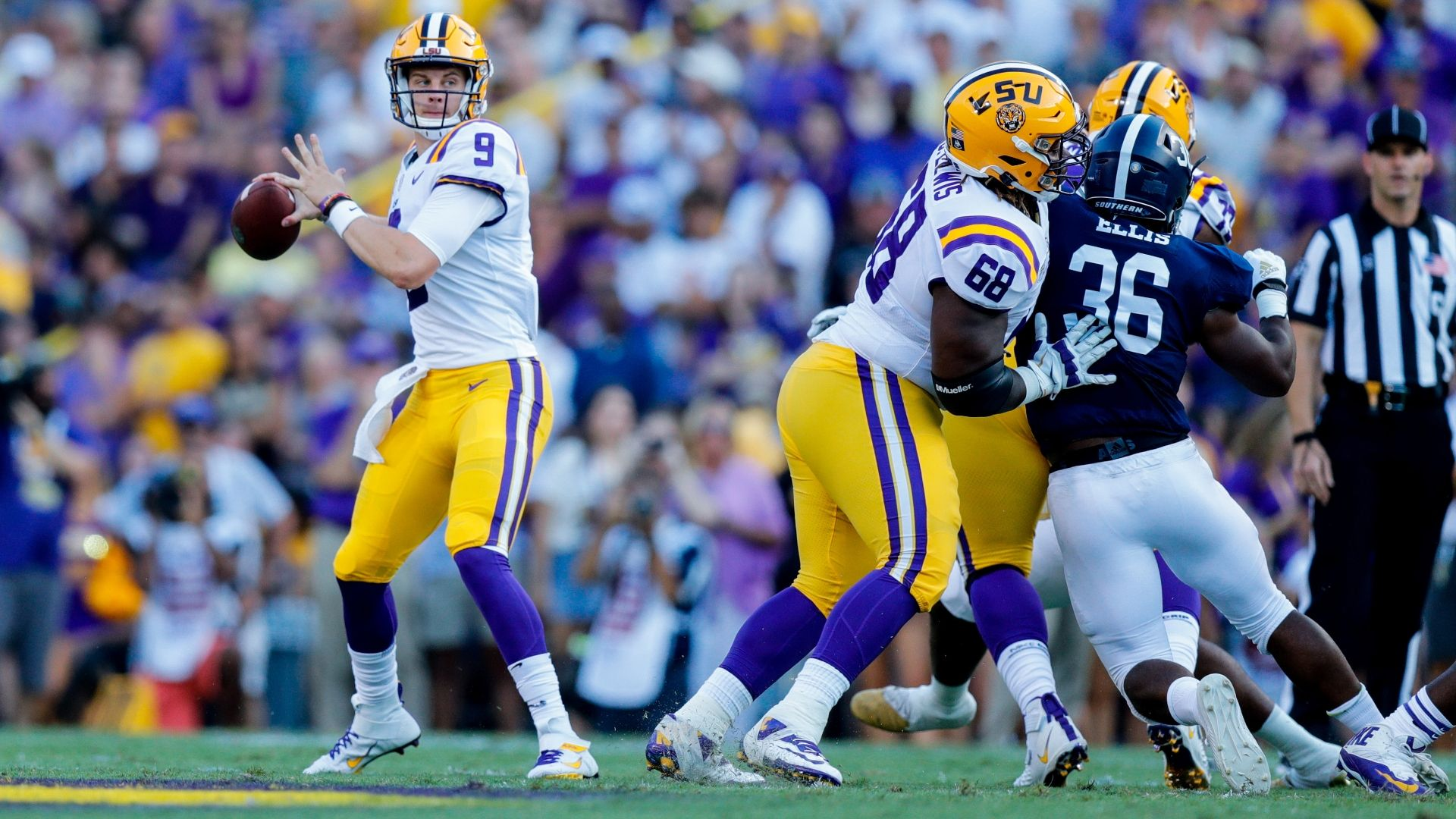 LSU quarterback Joe Burrow Peach Bowl