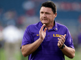 LSU coach Ed Orgeron has led the Tigers to the SEC Championship game against Georgia on Saturday. (Image: AP)