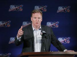 NFL commissioner Roger Goodell updated the media on the Patriots investigation and playoff reseeding. (Image: AP)