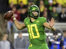 Oregon will need a near perfect game from quarterback Justin Herbert if they are going to upset Utah in the Pac-12 Championship game on Friday. (Image: GoDucks.com)