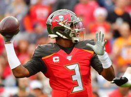 Tampa Bay quarterback Jameis Winston had a prop bet on when he would thrown an interception and it paid off quickly. (Image: Getty)