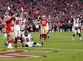 The San Francisco 49ers suffered a brutal defeat last week against Atlanta, but still can win the NFC West if they win their last two games. (Image: Getty)