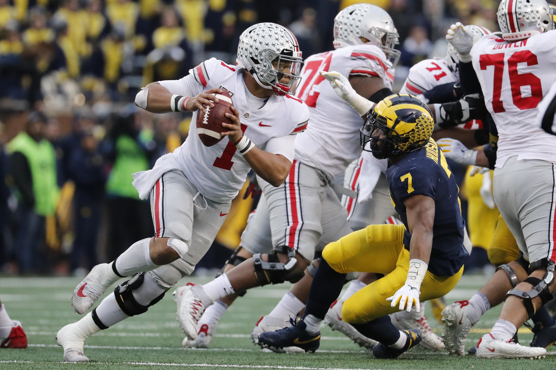 Ohio State quarterback Justin Fields College Football Playoff semifinal