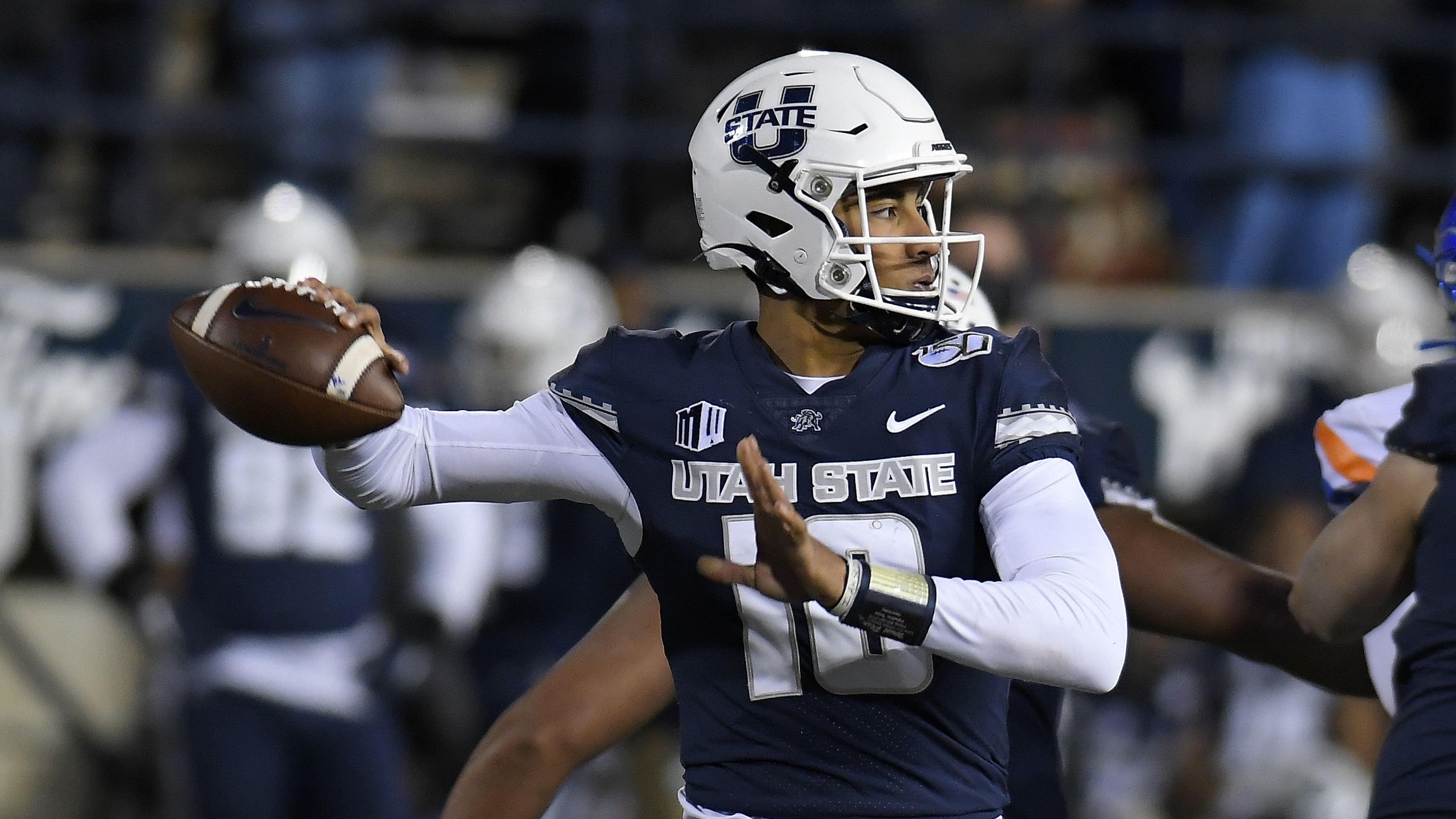 Utah State quarterback Jordan Love Frisco Bowl
