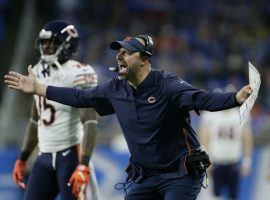 Chicago coach Matt Nagy needs a victory in Thursday's Cowboys-Bears game to keep the team in the playoff hunt. (Image: AP)