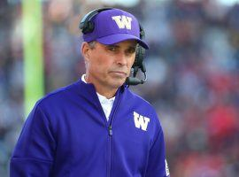 The Las Vegas Bowl will be Washington Coach Chris Petersen's final college bowl game as he announced his resignation three weeks ago. (Image: Getty)