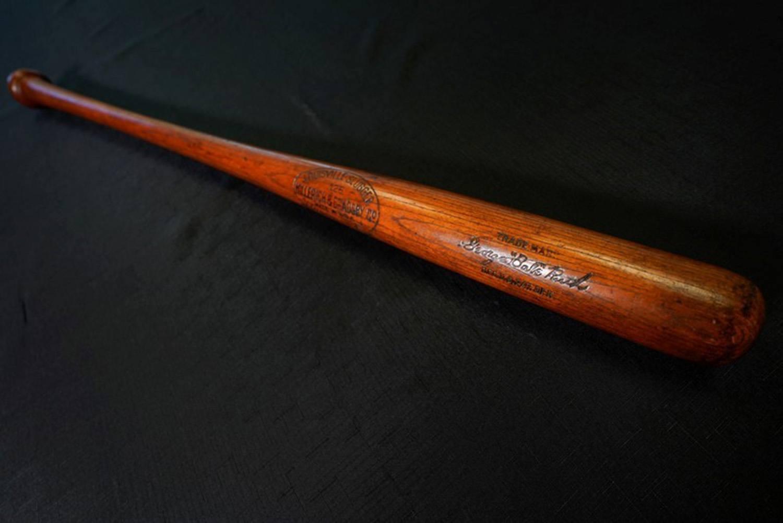 The bat that Babe Ruth hit his 500th home run