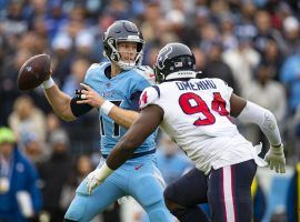 For the first time in seven games, Tennessee quarterback Ryan Tannehill went against an NFL betting trend and hit the under in their loss to the Houston Texans on Sunday. (Image: Getty)