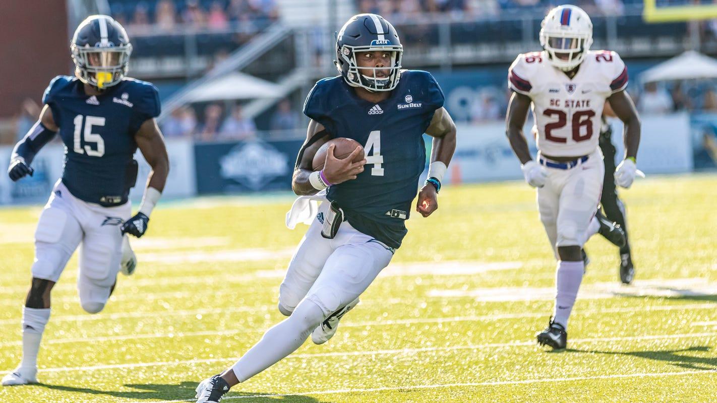 Georgia Southern quarterback Shai Werts Cure Bowl