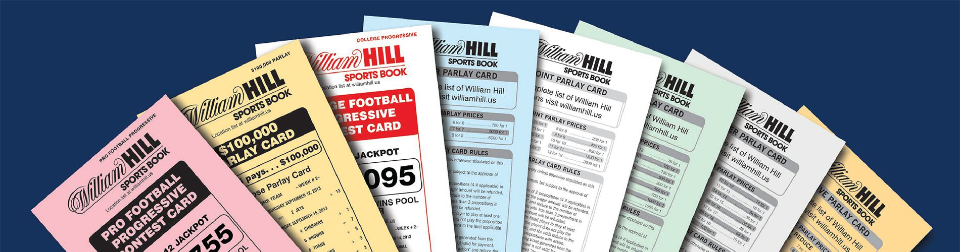 William Hill parlay cards