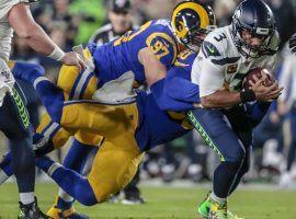 The Los Angeles Rams took down Russell Wilson and Seattle on Sunday night, and were the only one of four NFL leaders against the spread to cover. (Image: Robert Gauthier / Los Angeles Times)