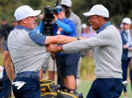 Justin Thomas and Tiger Woods have been one of the only bright spots for the U.S. Team in the Presidents Cup. (Image/AFP)
