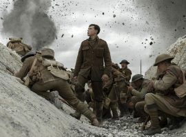 "Actor George MacKay as a British soldier in the trenches during the World War I film, ""1917"", directed by Sam Mendes. (Image: Dreamworks/Universal)"