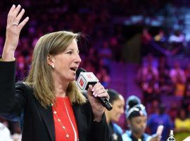 """WNBA Commissioner Cathy Englebert is """"making a big bet on women"""" with new contract proposal. (Image: Ethan Miller/Getty)"""