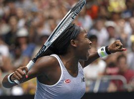 Coco Gauff survived a three-set match to advance to the third round of the Australian Open, where she will face Naomi Osaka. (Image: Lee Jin-man/AP)