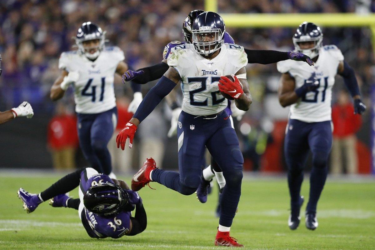 Derrick Henry Tennessee Titans NFL playoffs Baltimore Ravens