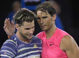 Dominic Thiem (left) scored an upset victory over Rafael Nadal (right) in the quarterfinals of the 2020 Australian Open. (Image: AP)