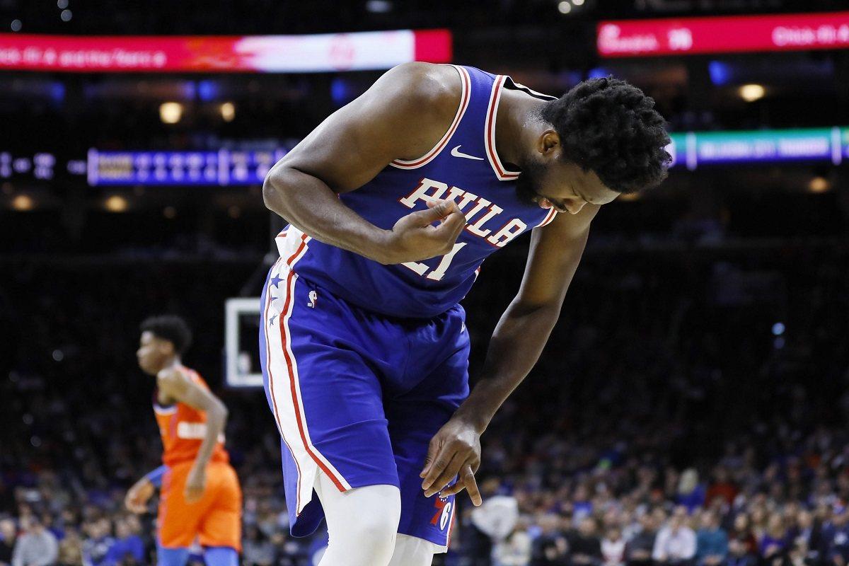 Joel Embiid finger injury Philadelphia Sixers 76ers