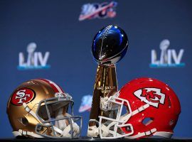 The San Francisco 49ers battle the Kansas City Chiefs for the Lombardi Trophy in Super Bowl LIV. (Image: Getty)