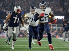 Tennessee running back Derrick Henry was effective against New England last week, and should see a big workload in the Titans-Ravens AFC Divisional Playoff game on Saturday in Baltimore. (Image: Boston Globe)