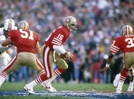 San Francisco 49ers QB Joe Montana in Super Bowl XIX against the Miami Dolphins at Stanford Stadium in Stanford, California. (Image: Richard Mackson/US Presswire)