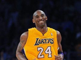 Kobe Bryant with the LA Lakers at Staples Center in his final season in 2016. (Image: Getty)