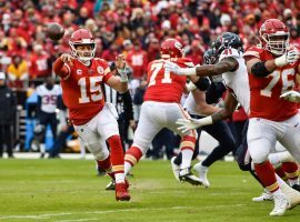 Kansas City Chiefs QB Patrick Mahomes passes during the Chiefs historic comeback against the Houston Texans at Arrowhead Stadium in Kansas City. (Image: Porter Lambert/Getty)