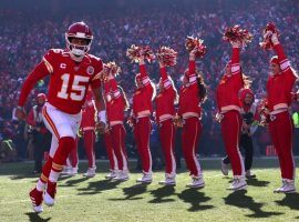 Kansas City Chiefs QB Patrick Mahomes during introductions before the AFC Championship against the Tennessee Titans at Arrowhead Stadium. (Image: Tom Pennington/Getty)