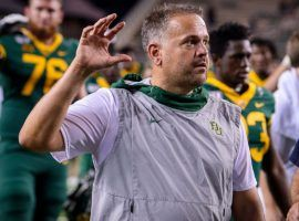 Baylor coach Matt Rhule has agreed to a seven-year, $60 million contract to coach the Carolina Panthers. (Image: Jerome Miron/USA Today Sports)