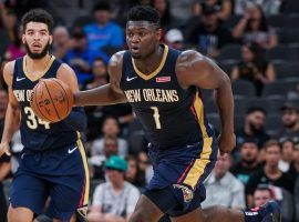 Rookie Zion Williamson, forward for the New Orleans Pelicans, during a preseason game in October 2019. (Image: Porter Lambert/Getty)