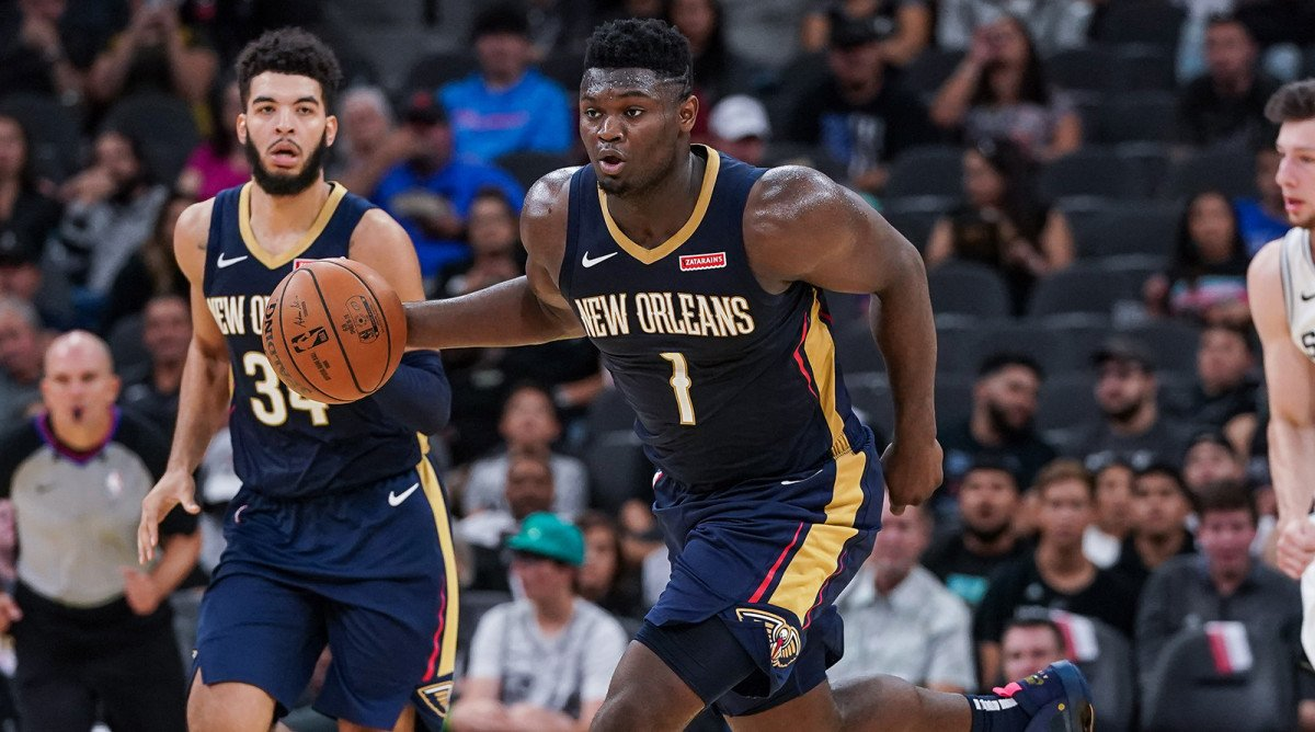Zion Williamson New Orleans Pelicans rookie debut return