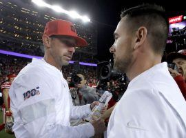 San Francisco head coach Kyle Shanahan, left, is hoping that his team can beat Green Bay head coach Matt LaFleur in the NFC Championship game. (Image: AP)