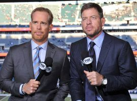 Joe Buck and Troy Aikman will be covering their fifth Super Bowl and there are plenty of broadcast prop bets regarding the telecast. (Image: Fox Sports)