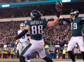 Eagles tight end Dallas Goedert could have a big day Sunday in Philadelphia's wild card game against the Seahawks, whether or not Zach Ertz plays. (Image: NBC 10 Philadelphia)