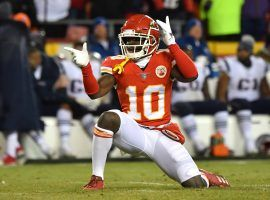 Kansas City Tyreek Hill told reporters that defenses can't cover him or other receivers on the team. (Image: Getty)