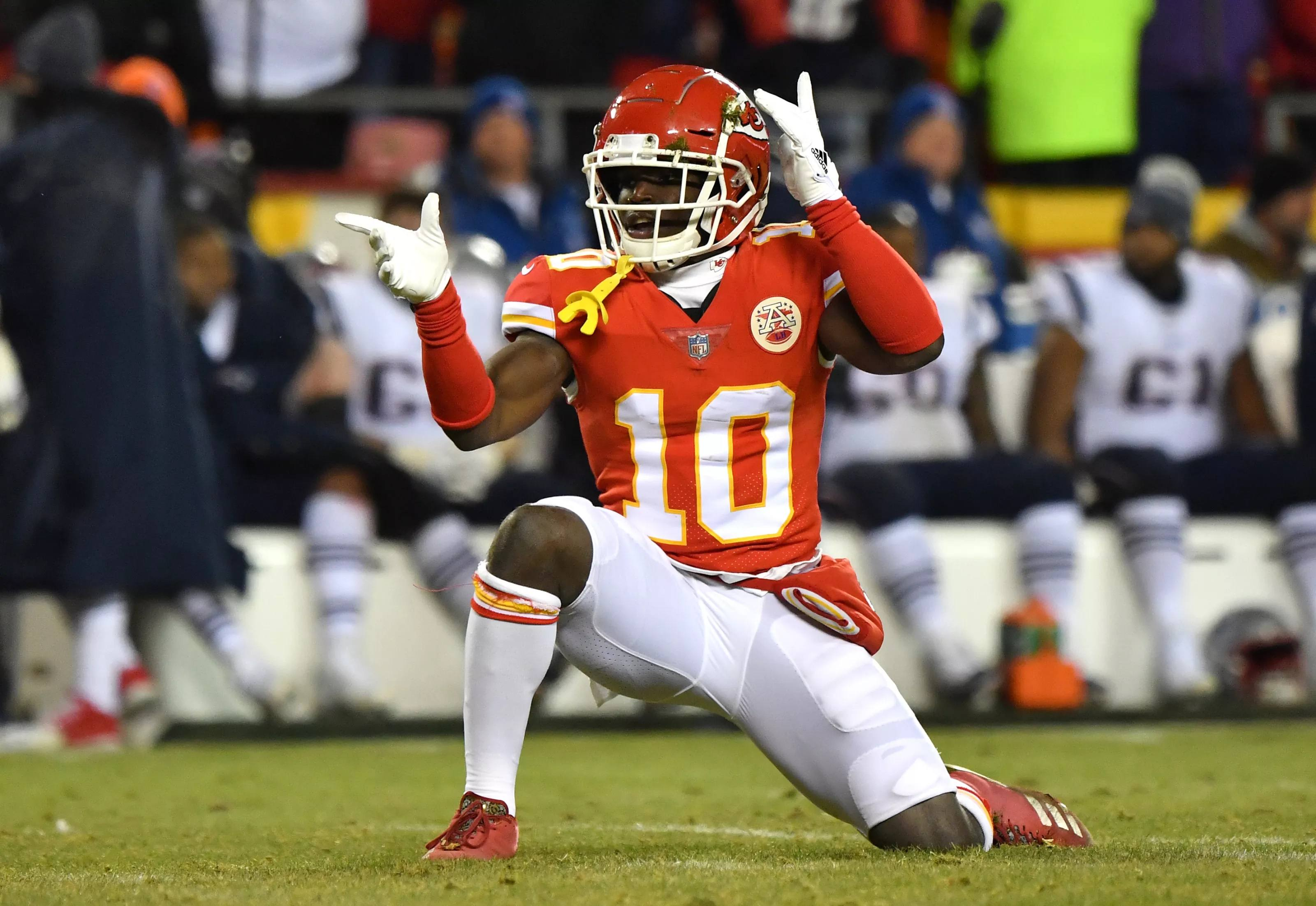 Kansas City Chiefs receiver Tyreek Hill