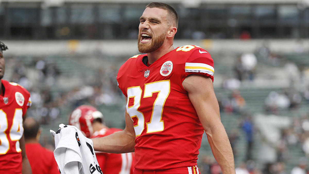 Travis Kelce Texans-Chiefs AFC Divisional Playoff game