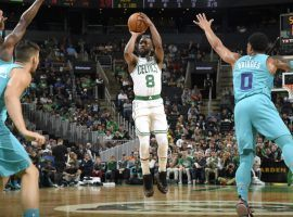 """Boston Celtics' Kemba Walker is part of the Westgate Las Vegas SuperBook """"Who Will Have More"""" Super Bowl prop bets. (Image: Getty)"""