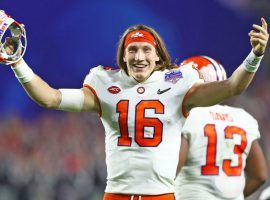 Quarterback Trevor Lawrence is part of several National Championship proposition bets in Monday's LSU-Clemson game. (Image: USA Today Sports)