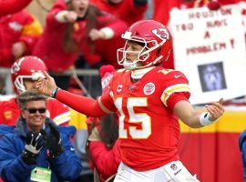 Patrick Mahomes will be leading Kansas City in Sunday's AFC Championship, and if victorious, will face the winner of the NFC Championship game. (Image: Getty)