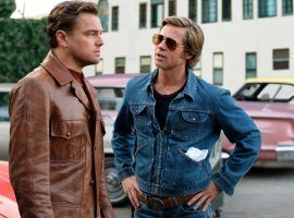 "Leo DiCaprio and Brad Pitt in ""Once Upon a Time in Hollywood."" (Image: Sony Pictures)"