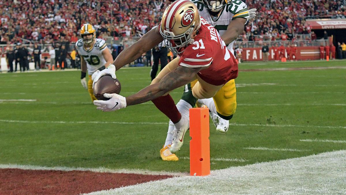 San Francisco Niners 49ers Raheem Mostert Green Bay Packers NFC Championship