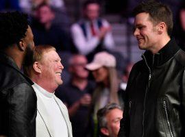 New England quarterback Tom Brady will be a free agent in March, and when he talked to Raiders owner Mark Davis on Saturday, it fueled speculation he was leaving the Patriots. (Image: Getty)