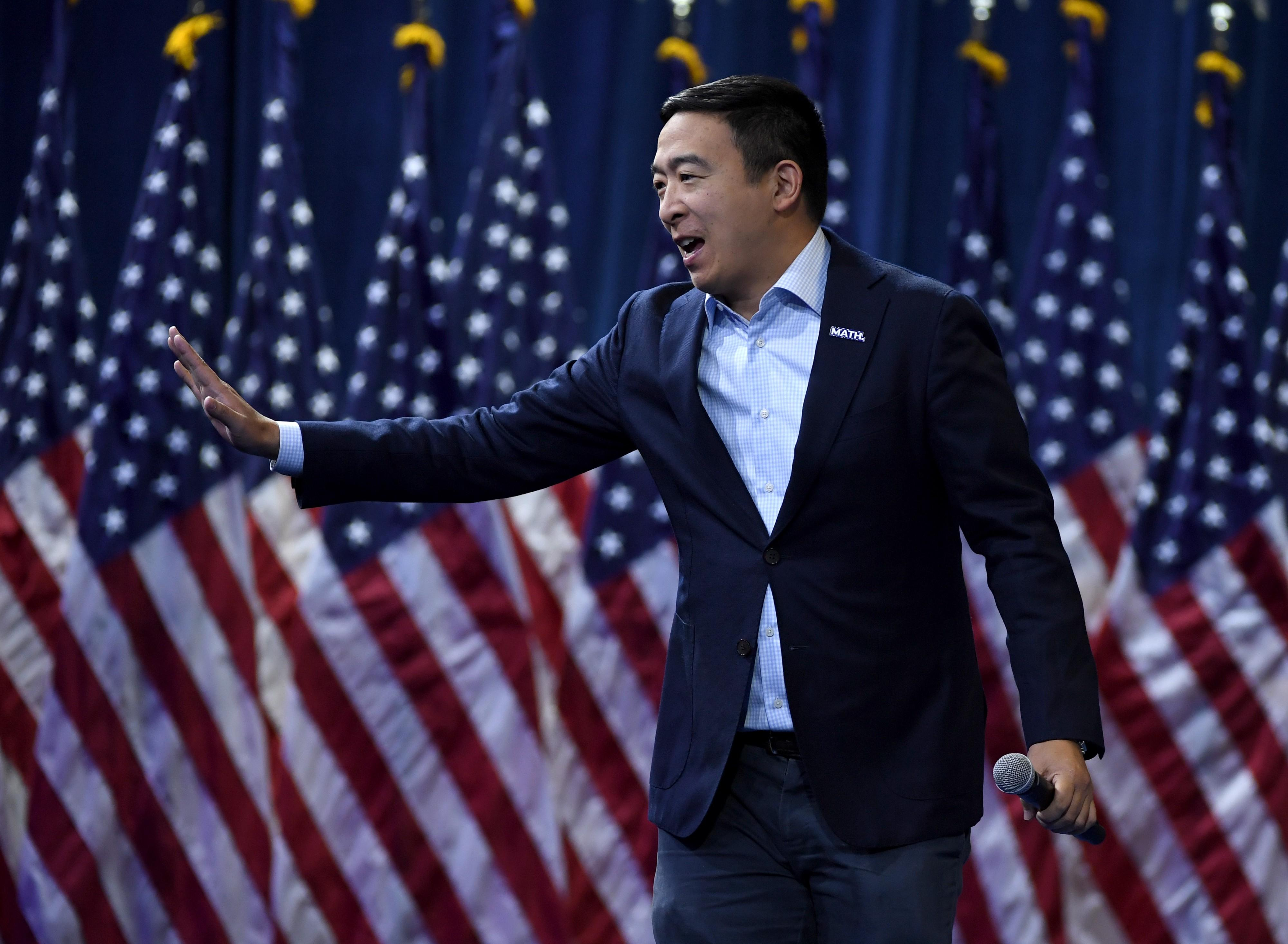 Andrew Yang Trump Heads Up